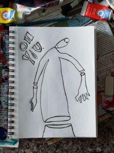 biggs-the-alien-drawing-by-jamie-barrientos