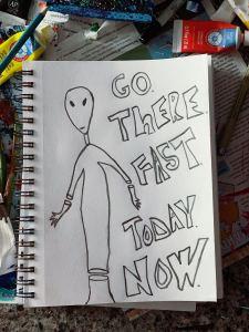 sam-the-alien-drawing-by-jamie-barrientos
