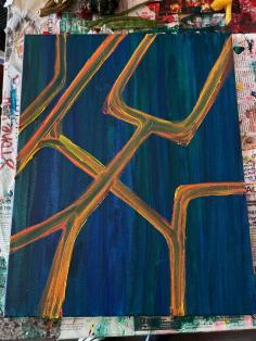 """feeling schema."" 16x20, acrylic on canvas. Original art by Jamie Barrientos."
