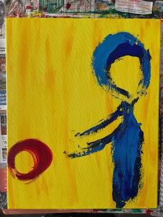 """hand me downs."" 16x20, acrylic on canvas. Original art by Jamie Barrientos."