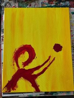 """release it."" 16x20, acrylic on canvas. Original art by Jamie Barrientos."